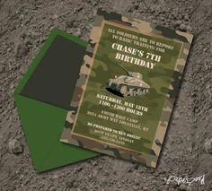 printable military birthday invitations - Google Search