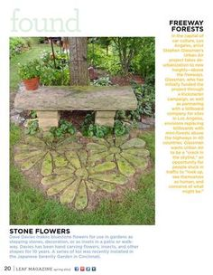 Stone Flowers and Bench  Leaf Magazine, Issue 5, Spring 2013