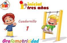 Colección de cuadernillos con fichas de actividades para preescolar. Trazos, números y preescritura, para niños de 3,4 y 5 años. Actividades para infantil.