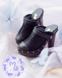 [M7] BJD Doll 1/3 third of the large female black Leisi Sen Department of ladies high heels sandals - Taobao