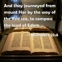 Numbers 21:4 And they journeyed from mount Hor by the way of the Red sea, to compass the land of Edom: and the soul of the people was much discouraged because of the way.