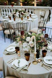45 modische Winter Hochzeitsdekoration Ideen auf ein Budget