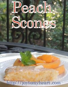 Wonderful  Peach Scones