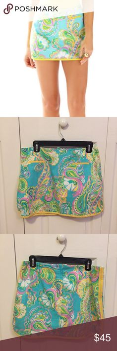 Lilly Pulitzer Shorely Blue Tierney Skort Lilly Pulitzer Tierney Skort in the Shorely Blue Double Trouble print. Skort has been worn a couple of times but is in excellent condition. Great for spring and summer! Lilly Pulitzer Skirts