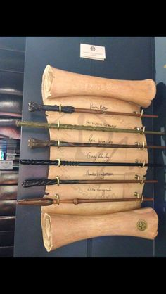 Harry Potter wands display
