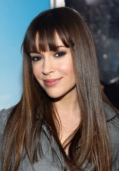 2013 Hair Trends: Alyssa Milano Long Smooth Hairstyle  ~~  Or like THIS!!  I think this looks awful on her!!