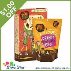 Save $1.00 off any Bitsy's Brainfood Product! greenmomsmeet.com/coupons
