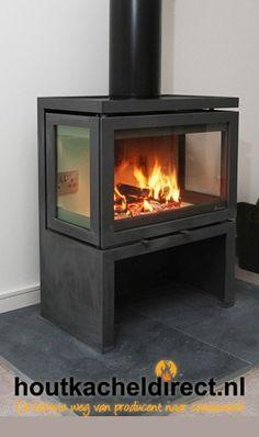 Rustic Fireplace Decor, Rustic Fireplaces, Fireplace Design, Rustic Decor, Le Living, Wood Burner, Rustic Wood, Stove, New Homes