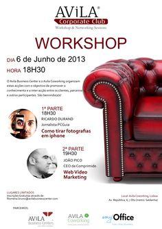 Workshop Gratuito: Como tirar fotografias através de iPhone e Webvideo Marketing