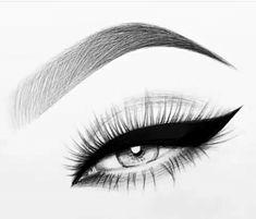 Pencil Art Drawings, Cool Art Drawings, Art Drawings Sketches, Eye Drawings, Eye Drawing Tutorials, Drawing Techniques, Eyelashes Drawing, Eyelashes Grow, Feather Eyelashes
