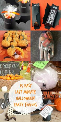 I love these 15 Easy Last Minute Halloween Party Favor Ideas! There is even one for parents!