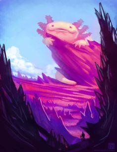 The Great Axolotl by Kuthinks.deviantart.com on @DeviantArt