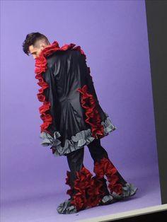#돌연변이 #exaggerate #menswear #leather #ruffle #mutation made by JaeyeonJung #catholicuniversityofkorea