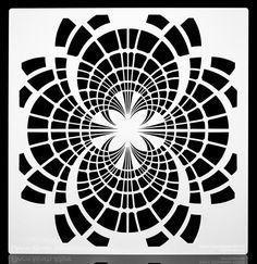 Art Deco Moth Dreamcatcher Stencil.  Wall / Art / Craft / Painting / Makeup / Furniture / Tattoo / Overlay Air Airbrush Stencil.