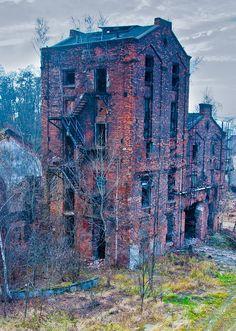 Ruins of an oil company. Ostrava, Czech Republic.