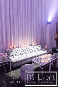 Beautiful wedding lounge area with flowers, draping and lighting- by Event De… - corporate event design Corporate Event Design, Crystal Candelabra, New Years Wedding, Wedding Lounge, Event Company, Lounge Areas, Draping, Event Decor, Floral Design