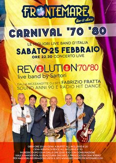Sei pronto per la rivoluzione musicale? Al Frontemare Rimini, sabato torna di moda la musica degli anni 70/80.