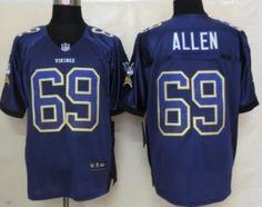 Nike Minnesota Vikings #69 Jared Allen 2013 Drift Fashion Purple Elite Jersey