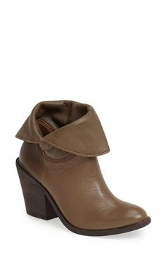 Lucky Brand 'Ethann' Foldover Shaft Leather Bootie (Women) available at #Nordstrom. Have them in black. So comfortable.