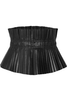 Isabel Marant Jeanne plissé-leather waist belt | THE OUTNET