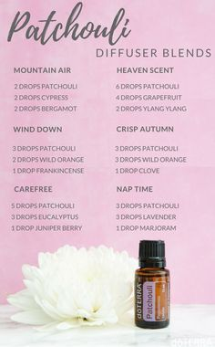 Patchouli diffuser blends - relax, boho, bohemian spirit - Try these new diffuser blends!