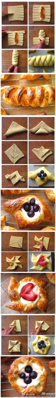 Pastry folding ideas and 21 other food ideas