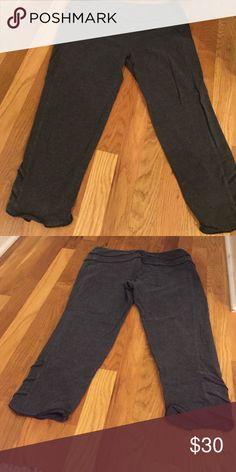 Organic cotton capris Soft organic capris form fitting with design on bottom 95% organic cotton Athleta Pants Capris