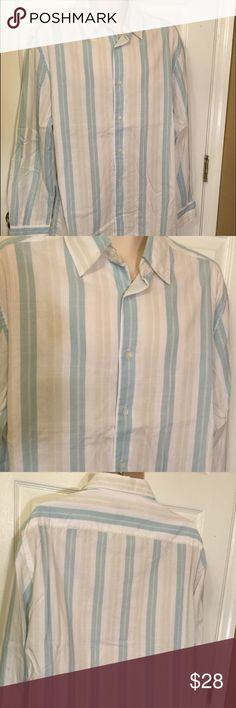 "Claiborne Modern Fit XL button front shirt New without tags..measures 24"" armpit to armpit...24"" sleeve..30"" length Claiborne Shirts Casual Button Down Shirts"