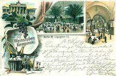 Weinstuben Kempinski, Berlin W. Leipziger Str. 25, 1897.