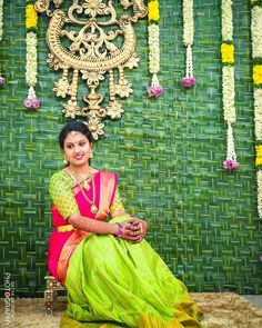 Lovely color combination of saree ♥backdrop