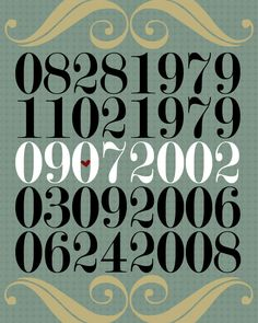 So cute! Personalized wall art with our most important dates!