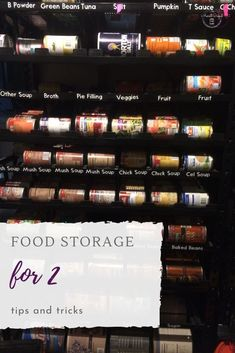Food storage for 2 tips and tricks. Emergency food supply for 2 tips and tricks. Emergency Food Storage, Emergency Food Supply, Emergency Preparedness, Soup Broth, Long Term Food Storage, Green Powder, Frugal Living Tips, Survival Food, Baked Beans