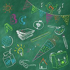 20 Servietten Blackboard ABC - Bunte Schultafel / Schulanfang 33x33cm: AmazonSmile: Küche & Haushalt