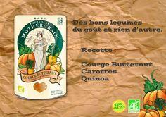 simplement Courge Butternut, Carottes & Quinoa...