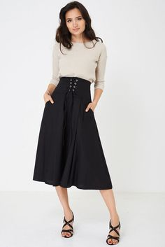 Maxi Skirt with Corset Detail Ex Brand Affordable Fashion, Trendy Fashion, Steampunk Dress, Gothic Steampunk, Cheap Clothes, Clothes For Women, Flippy Skirts, New Outfits, Day Dresses