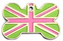 £7.49 engraved. Could go for the traditional union jack colours or a twist like this.