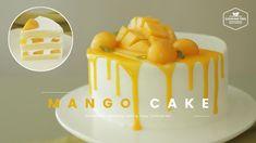 Mango Mousse Cake, Mango Cake, Mango Chiffon Cake Recipe, Small Desserts, Asian Desserts, Cake Decorating Videos, Cake Decorating Techniques, Drip Cake Recipes, Dessert Recipes