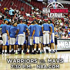 The No. 1 seeded #Warriors make their #NBASummerLeague Tournament debut tonight against the @Dallas Mavericks. Tipoff is at 7:30 p.m. and you can watch the action via Summer League Live. Tune in and see if the Dubs can push their unbeaten Summer League streak to 11 games. Game Coverage: warriors.com/summerleague