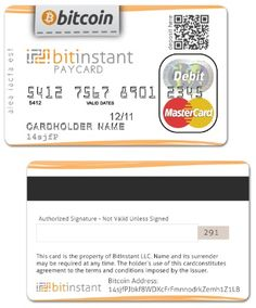 Bitcoin credit card.