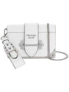 PRADA . #prada #bags #shoulder bags #leather #nylon #