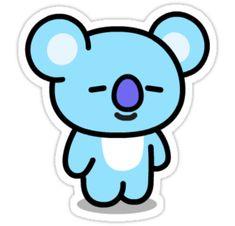 'KOYA - Sticker by jade flowers - Anime kawaii Stickers Kawaii, Pop Stickers, Tumblr Stickers, Printable Stickers, Wallpaper Iphone Cute, Bts Wallpaper, Cute Kawaii Drawings, Bts Drawings, Bts Chibi