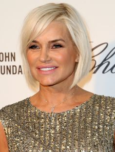 Flattering Bob Hairstyles for Older Women: Yolanda Foster of the Real Housewives of Beverly Hills