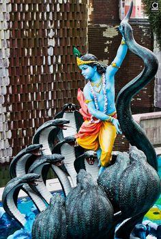 Lord Krishna fighting Kaaliya Naag