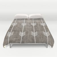Duvet Covers featuring dirty arrows by holli zollinger