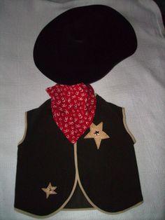 Dress up http://www.etsy.com/listing/161129316/cowboy-dress-up-costume-vest-hat-scarf