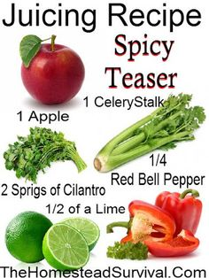 Spicy Teaser Juicing Recipe   Homestead Survival