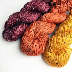 Brrr. The mornings are beginning to feel a bit nippy! Time to start admitting that there's a new season on the way. I absolutely love Autumn colours so I've indulged a little bit lately - aren't they gorgeous? They'll be plenty of these at Yarndale if you need cosy Autumn yarn.