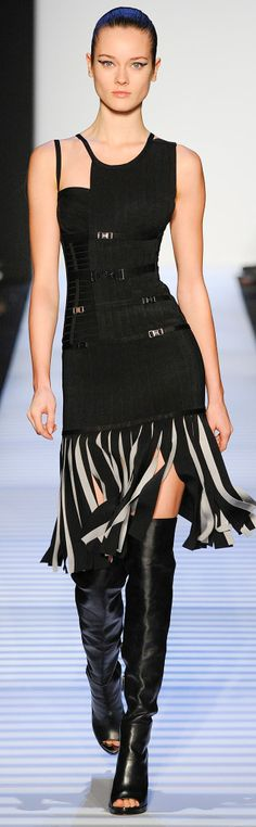 Hervé Léger By Max Azria | Fall 2014 HOW ABOUT STRIPS OF BIAS CUT SILK AS STREAMERS?