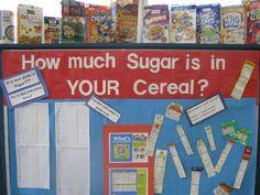 Very nice bulletin board concerning nutrition.