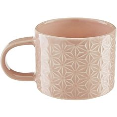 Murmur Dune Small Mug Set of 4 - Blush ($60) ❤ liked on Polyvore featuring home, kitchen & dining, drinkware, pink, wedding mugs, handmade mugs and pink mug